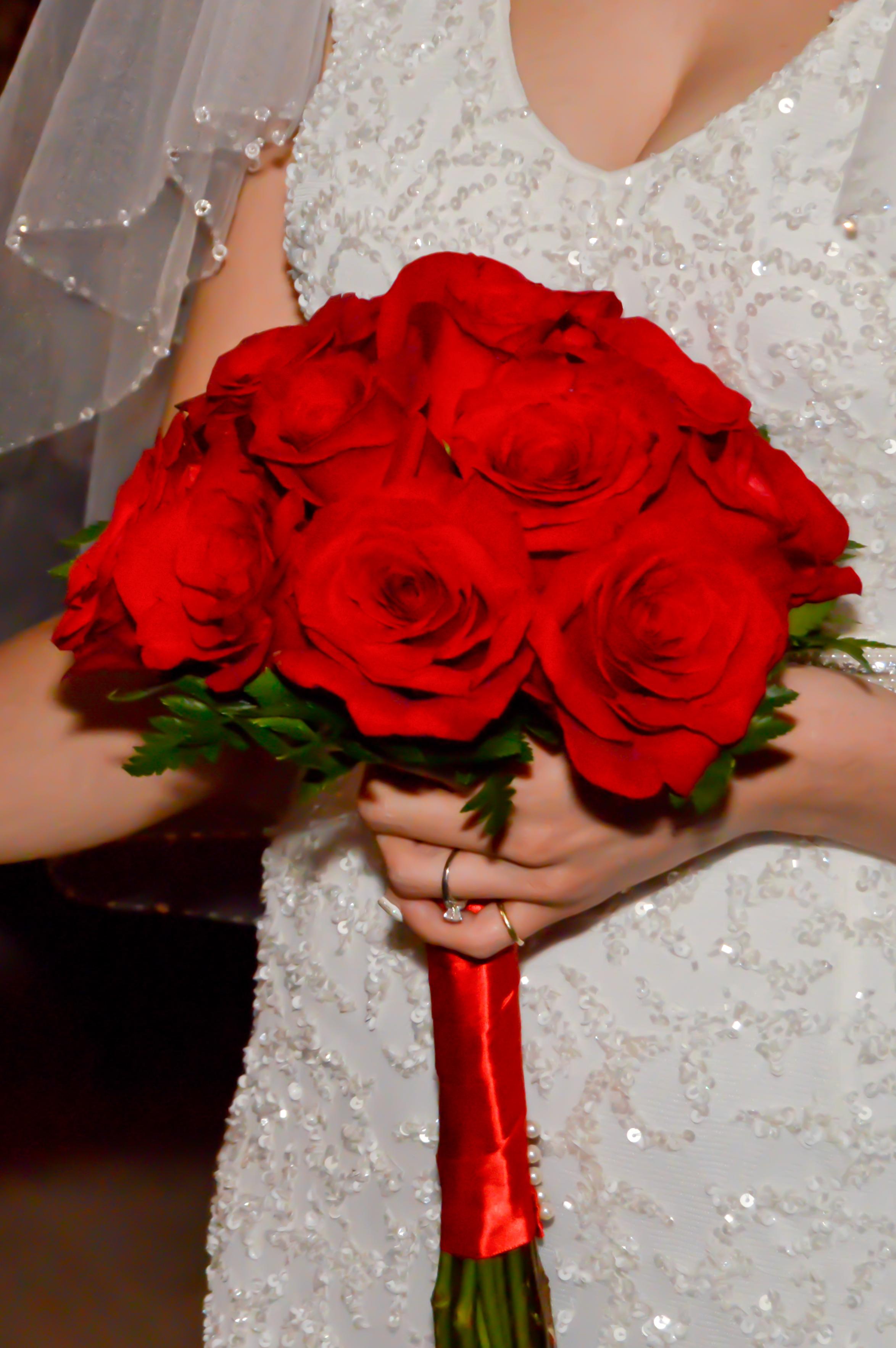 Twelve Rose Hand Tied Bouquets Las Vegas Weddings
