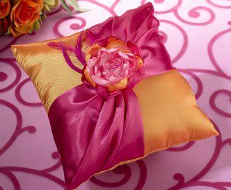 Hot Pink & Orange Ring Pillow