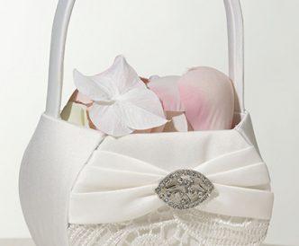 Creme Lace Flower Basket