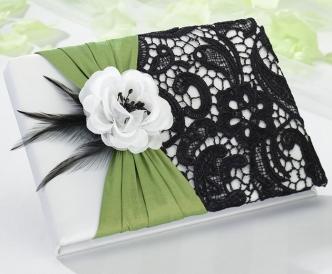 Green & Black Guest Book