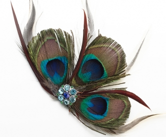 Peacock Feather Clip Decoration