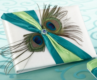 Peacock Feather Guest Book