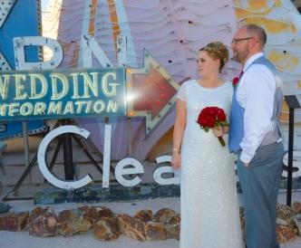 Neon Boneyard Wedding Photography: bride with bouquet.