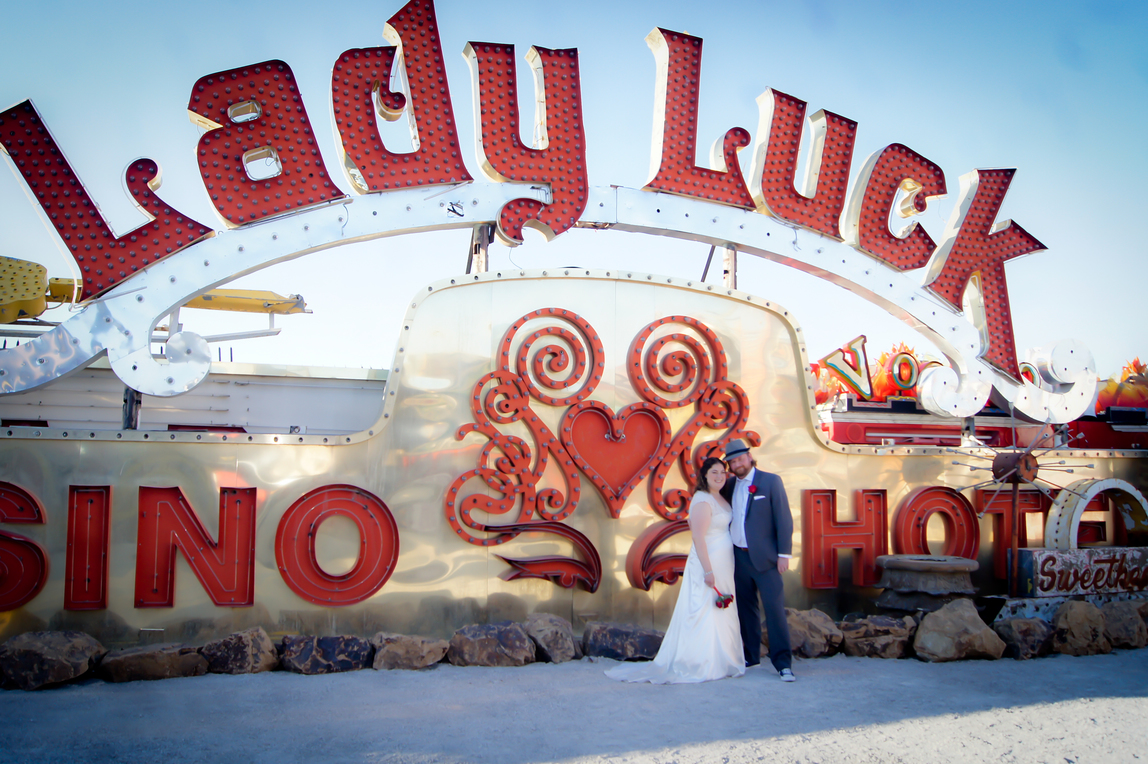 Neon Boneyard Wedding Photography Mon Bel Ami
