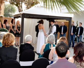 Another outdoor wedding on the Las Vegas Strip in Le Pavilion.