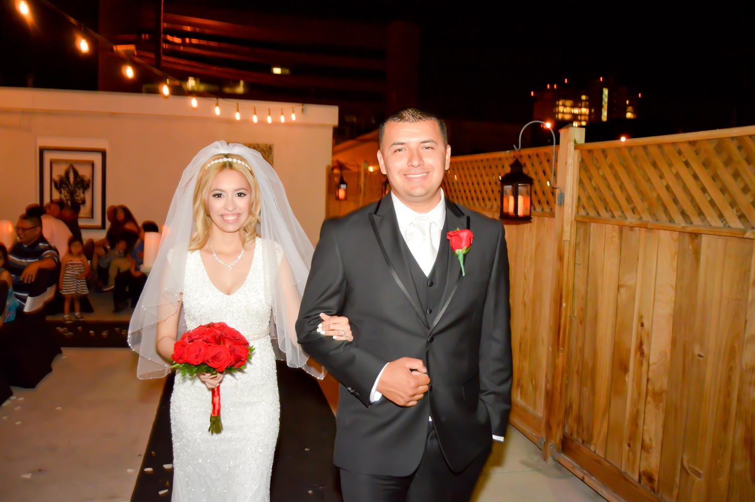 Pavilion Wedding At Night Outdoors On The Las Vegas Strip