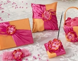 Pink & Orange personalized wedding collectibles.