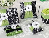Green & Black personalized wedding collectibles.
