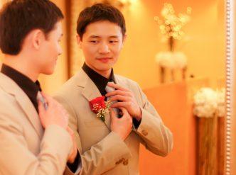 Posed wedding photography: young groom.