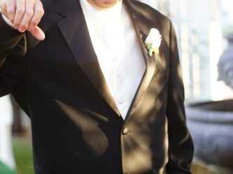 Posed wedding photography: groom.