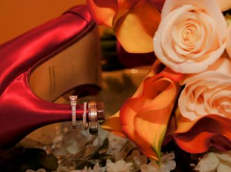 Posed wedding photography: flowers.