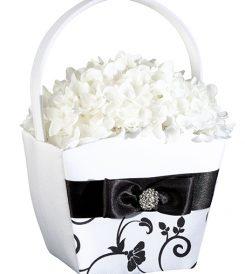 Tuxedo collection flower basket.