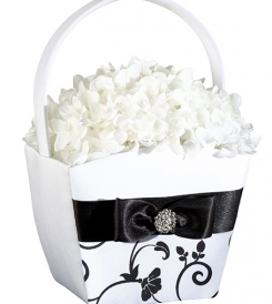 Tuxedo collection flower basket.