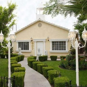 Mon Bel Ami Wedding Chapel is set back behind a beautiful and uniquely manicured garden just off the world famous Las Vegas Strip.