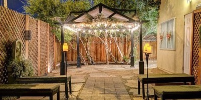 Mon Bel Ami outdoor wedding Gazebo, Las Vegas, NV.
