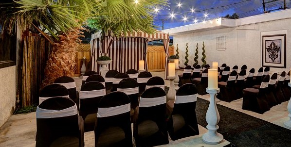 Mon Bel Ami outdoor wedding pavilion, Las Vegas, NV