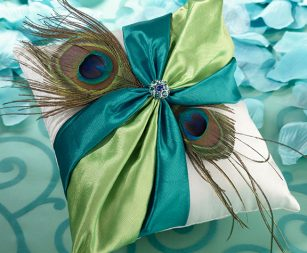 peacock-feather-ring-pillow